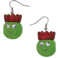 3D Brussel Sprout Drop Earrings