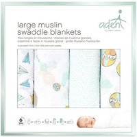 aden by aden + anais Muslin Swaddle Blanket 4 Pack - Carnival