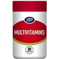 Boots Multivitamins Food Supplement - 30 Tablets