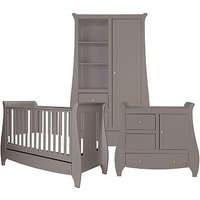 Bambini Katie 3 Piece Room Set - Cool Grey (Cotbed, Changer, Wardrobe)