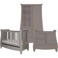 Bambini Lucas 3 Piece Room Set - Cool Grey (Cotbed, Changer, Wardrobe)