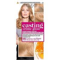 LOreal Paris Casting Creme Gloss Semi-Permanent Hair Dye, Blonde Hair Dye 801 Satin Blonde