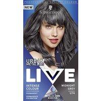 Schwarzkopf LIVE Midnight Grey U74 Permanent Hair Dye