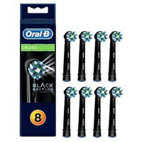 Oral B CrossAction Black Replacement Electric Toothbrush Heads 8 Pack