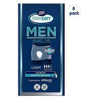 Boots Staydry for Men Light - 112 Shields (8 Pack Bundle)