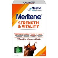 Meritene Strength & Vitality Chocolate Flavour Shake - 4 x 30g Sachets