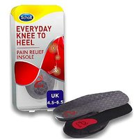 Scholl Everyday Knee to Heel Pain Relief Insole - size 4.5 - 6.5