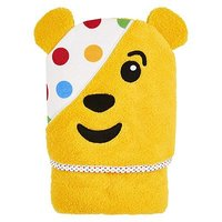 Mini Club Children in Need Pudsey Hooded Towelling Robe