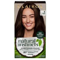 Clairol Natural Instincts Vegan No Ammonia No Parabens Semi-Permanent Hair Dye 5 Medium Brown 175ml