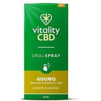 Vitality CBD 30ml Oral Spray 600MG Medium Strength CBD Lemon Flavour