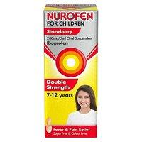 Nurofen For Children Strawberry 200mg 5mg Oral Suspension 100ml