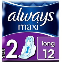 Always Maxi Long Sanitary Towels Long Wings 12s