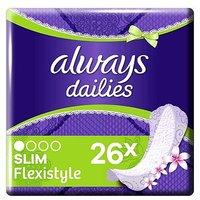 Always Dailies Slim Multiform Panty Liners Fresh x 26
