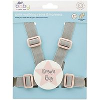 Boots Baby Harness & Reins - Pink