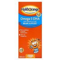 Haliborange Omega 3 DHA Orange Flavoured Syrup 300ml