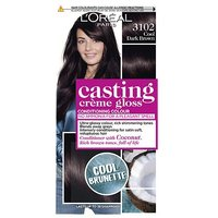 LOreal Paris Casting Creme Gloss Semi-Permanent Hair Dye, Brown Hair Dye 3102 Cool Dark Brown