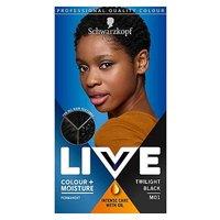 Schwarzkopf LIVE Colour + Moisture MO1 Twilight Black Permanent Hair Dye