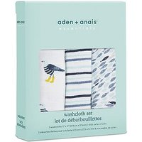 aden + anais essentials Washcloth set 3-pack - Seashore