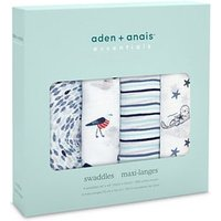 aden + anais essentials Muslin Swaddle Blanket 4-pack - Seashore (112 x 112cm)