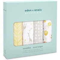 aden + anais essentials Muslin Swaddle Blanket 4-pack - Starry Starry (112 x 112cm)