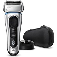 Braun Series 8 8350s Next Generation Electric Shaver, Charging Stand, Fabric Case, Silver