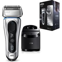 Braun Series 8 8390cc Wet & Dry mens electric shaver with Clean & Charge station and travel case -