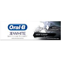 Oral B 3DWhite Whitening Therapy Deep Clean Toothpaste with Charcoal 75ml