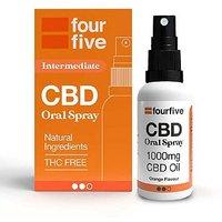 Fourfivecbd 1000mg CBD Oil Medium Strength   Orange Flavour 30ml