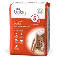 Boots Baby Easy On Pants Size 5, 20 Pants 12-18kg