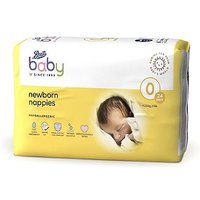 Boots Baby Newborn Nappies Size 0, 24 Nappies 1-2.5kg