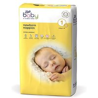 Boots Baby Newborn Nappies Size 1, 44 Nappies 2-5kg
