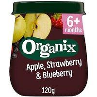 'Organix Apple Strawberry & Blueberry Organic Baby Food Jar 120g