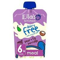 Ellas Kitchen Organic Dairy Free Pear and Fig Porridge Baby Pouch 6+ Months 100g