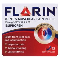 Flarin Joint and Muscular Pain Relief - 200mg 12 Soft Capsules