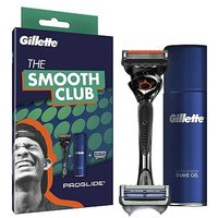 'Gillette Smooth Club Pack - Fusion Proglide Razor + 1 Skinguard Refill Blade, Shave Gel 75ml