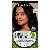 Clairol Natural Instincts Vegan No Ammonia No Parabens Semi-Permanent Hair Dye 3 Darkest Brown 175ml