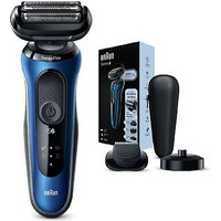 Braun Series 6 60-B4500cs Electric Shaver for Men with Charging Stand, Beard Trimmer, Blue
