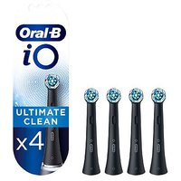 Oral B iO Ultimate Clean Black Replacement Electric Toothbrush Heads 4 Pack