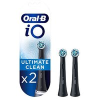 Oral B iO Ultimate Clean Black Replacement Electric Toothbrush Heads 2 Pack