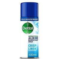 Dettol All In One Antibacterial Disinfectant Spray Crisp Linen - 400ml