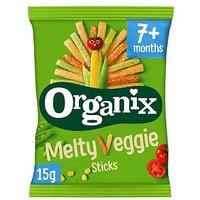 'Organix Melty Veggie Sticks Organic Baby Finger Food Snack 15g