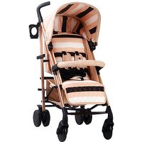 Your Babiie AM to PM MB51 Stroller - Blush Stripes Rose Gold