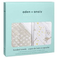aden + anais essentials 2 pack hooded towel starry star
