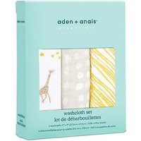 aden + anais essentials 3 pack cotton muslin washcloth set starry star