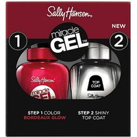 Sally Hansen Miracle Gel Nail Polish and Topcoat Duo - Bordeaux Glow