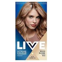 Schwarzkopf LIVE Intense Colour Permanent Blonde Hair Dye Beach Blonde B12