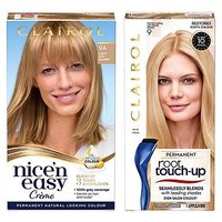 Clairol Nice n Easy Permanent Hair Dye and Root Touch-Up Bundle 9a Light Blonde