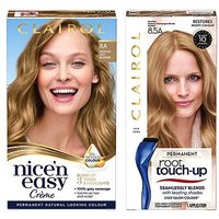 Clairol Nice n Easy Permanent Hair Dye and Root Touch-Up Bundle 8a Medium Ash Blonde
