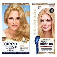 Clairol Nice n Easy Permanent Hair Dye and Root Touch-Up Bundle 9b Light Beige Blonde