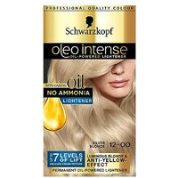 Schwarzkopf Oleo Intense 12-00 Silver Blonde No Ammonia Permanent Hair Dye